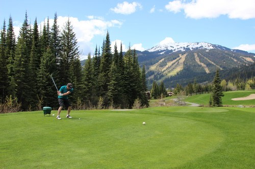 Amazing views on the wonderful Sun Peaks Resort Golf Courses - highest elevation golf course in British Columbia
