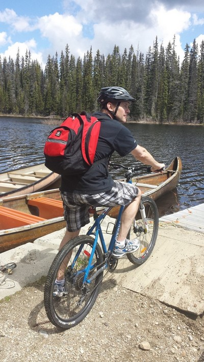 Paul cross country mountain biking at Sun Peaks Resort to McGillivray Lake - photo by BestSunPeaks.com