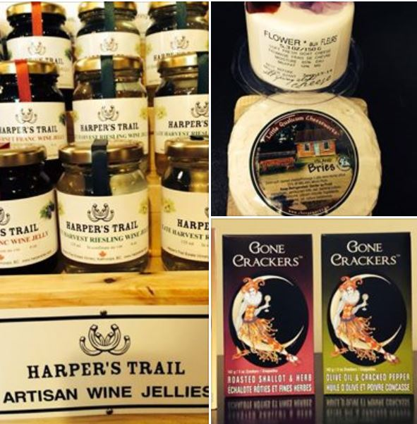 Enjoy snacks, wine jellies and cheeses at Harpers Trail Winery