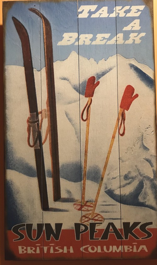 Custom Sun Peaks ski signs @bestsunpeaks.com
