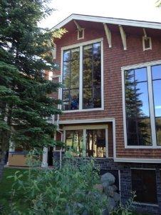 Huge view window at Stone's Throw Sun Peaks Resort
