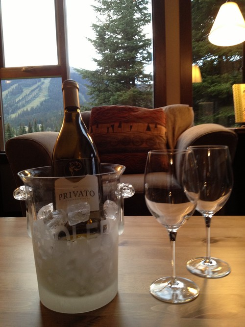 Best Sun Peaks condo and Privato wines - a winning combination