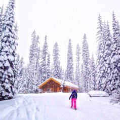 McGillivray Lake Warming Hut - snowshoe tour