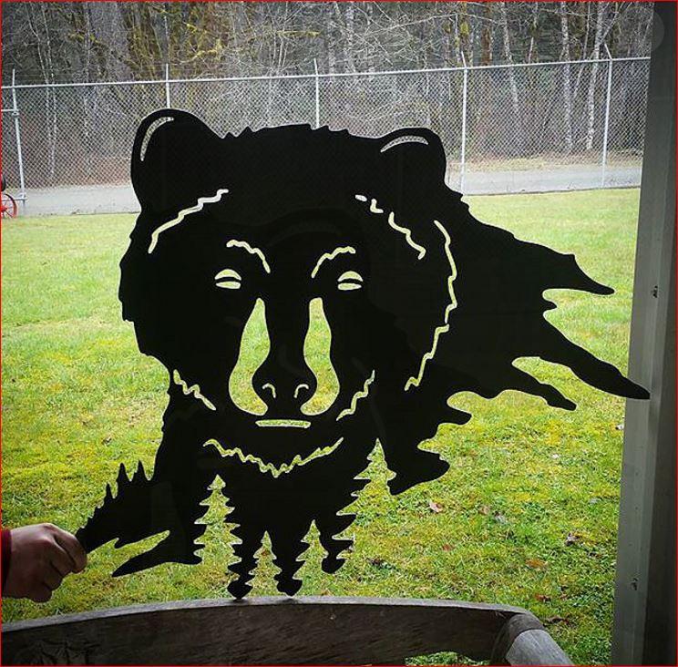 custom metal bear