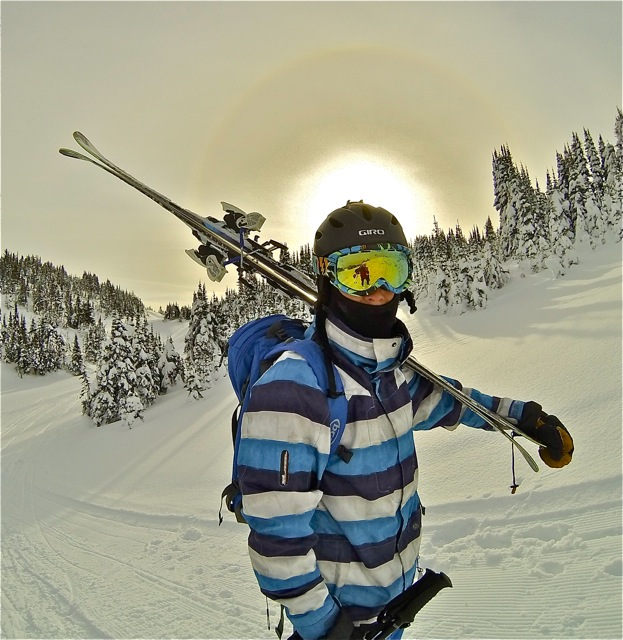 off-piste training at Sun Peaks