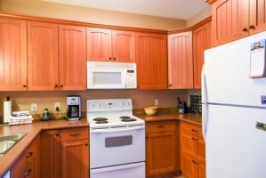 Trails Edge kitchen with many luxurious upgrades