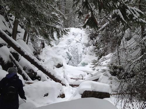 Frozen Sun Peaks Waterfall