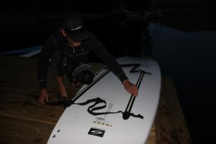 Bodie Shandro and Paddle Surfit night SUP tours near - Best Sun Peaks photo
