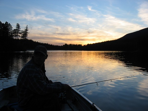 Camping and fishing on Heffley lake