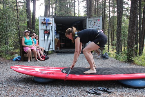 Kamloops stand up paddleboard lesson review from Sun Peaks