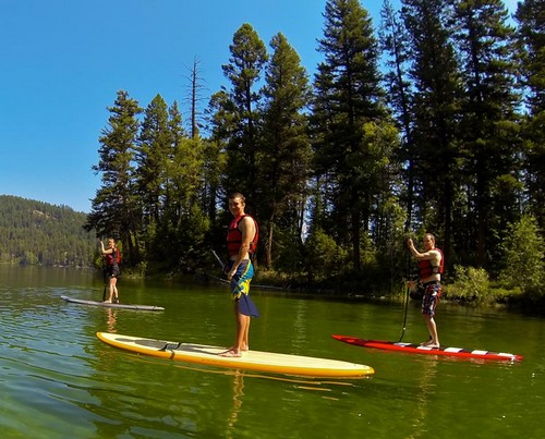 Stand up paddleboard lessons and rentals on Heffley Lake near Kamloops and Sun Peaks Resort