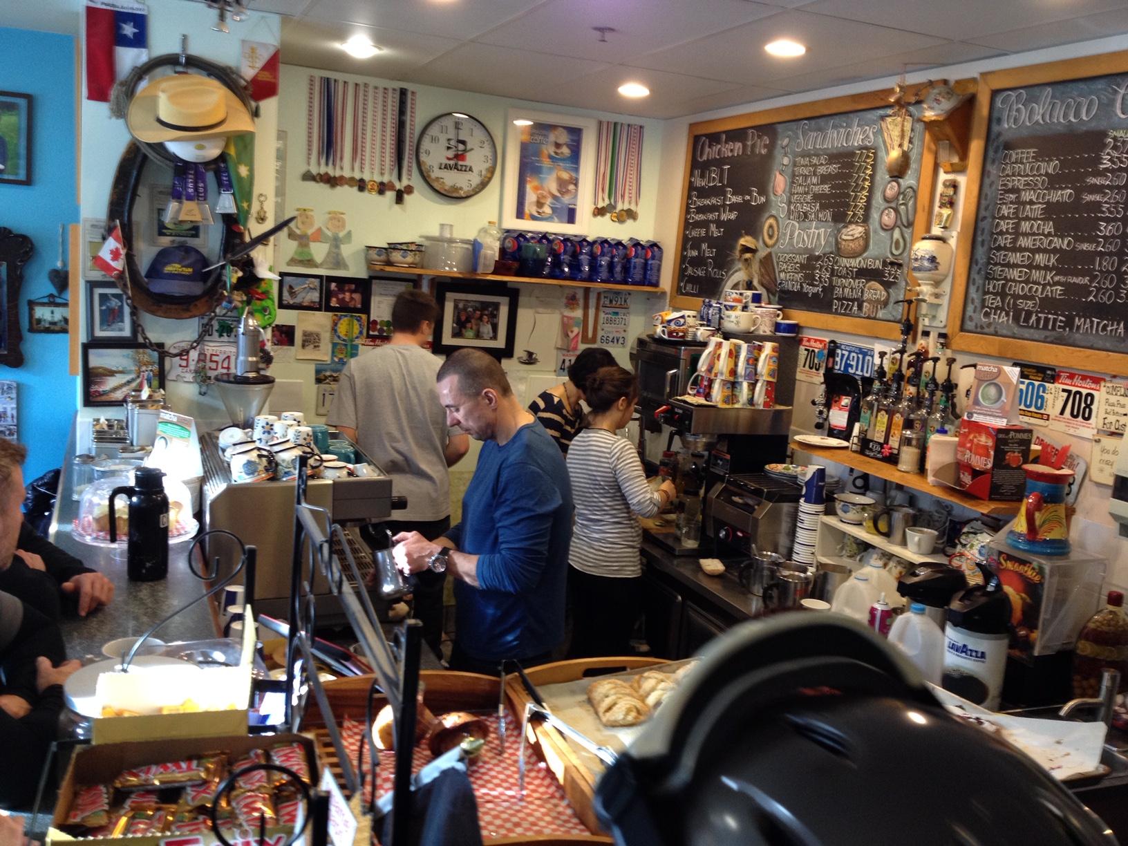 Bolacco Cafe - perhaps Sun Peaks Best coffee