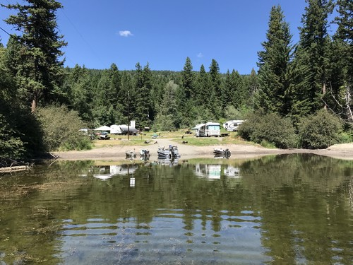 Heffley Lake camping area (as viewed from the water)