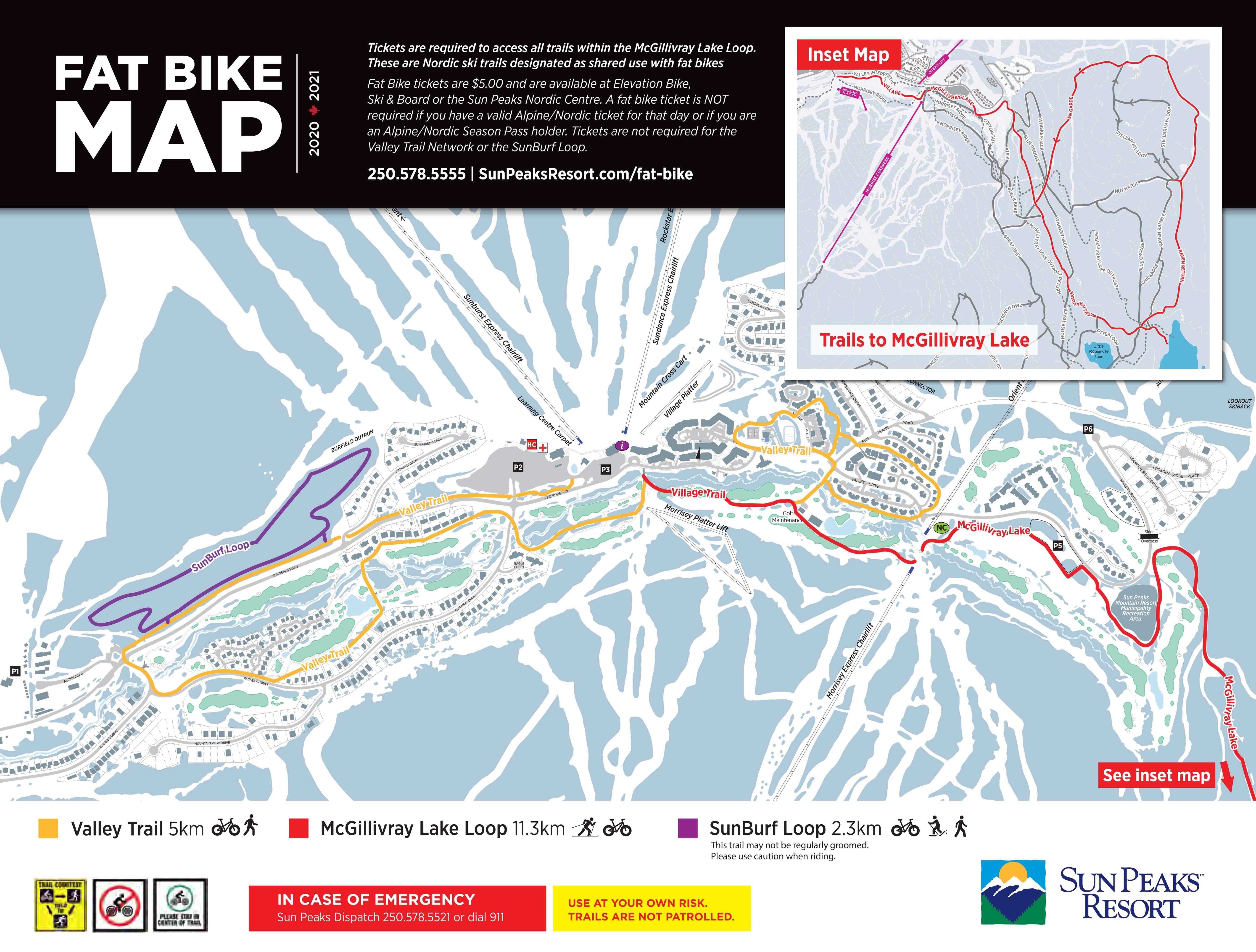 Sun Peaks Fatbike Trail Map