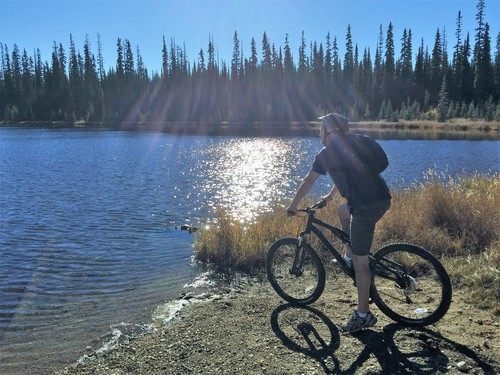 Spring bike riding at Sun Peaks