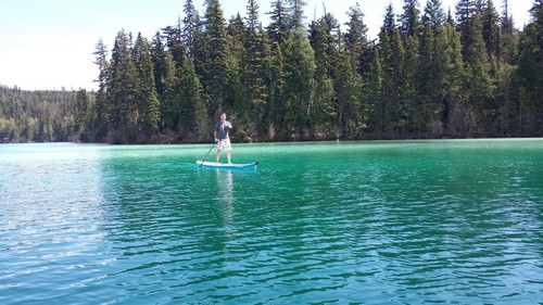 Paddle board on Johnson Lake