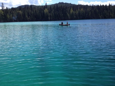 Canoeing on Johnson Lake (photo BestSunPeaks.com)