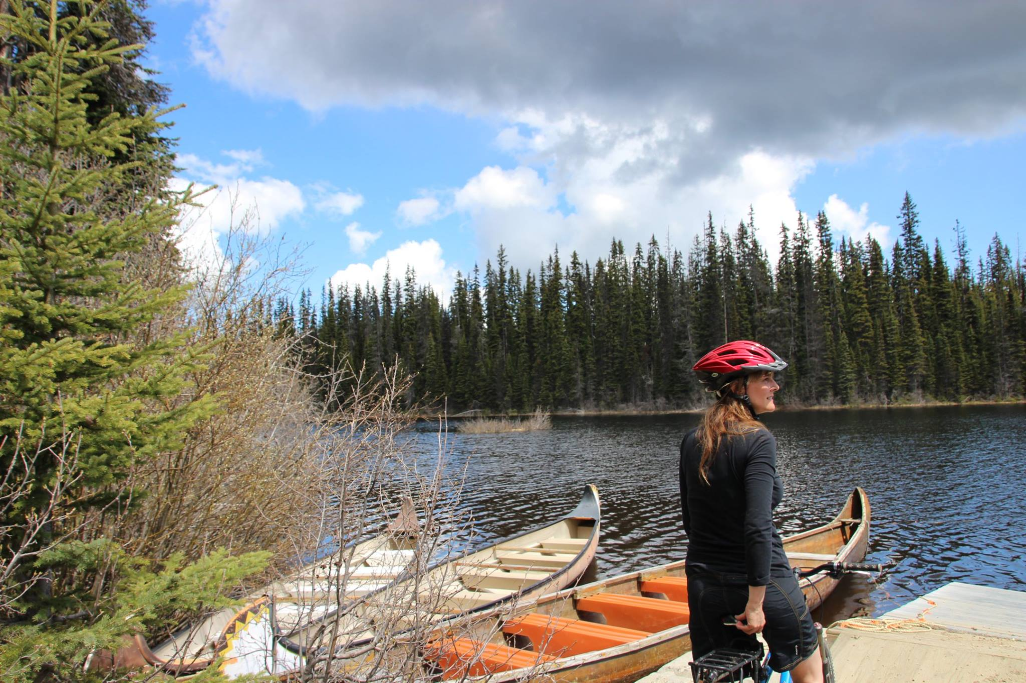 McGillivray Lake - Voyageur canoes and mountain bike ride on this lake near Sun Peaks