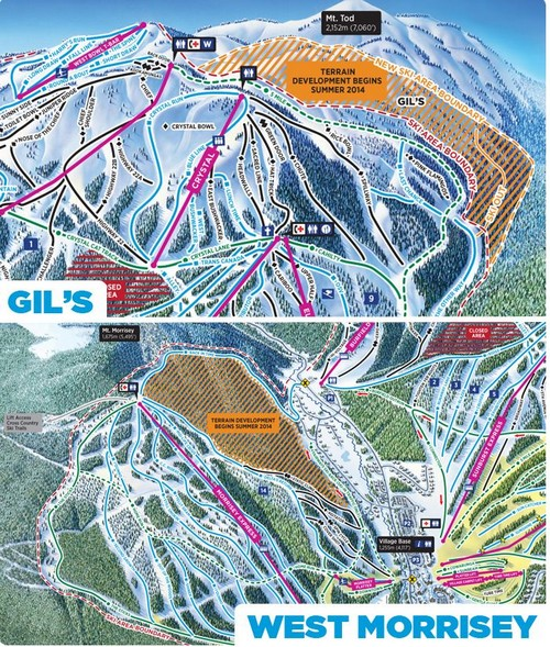 Sun Peaks Expansion Plans for 2014/15 underway include great new ski runs in the Gils