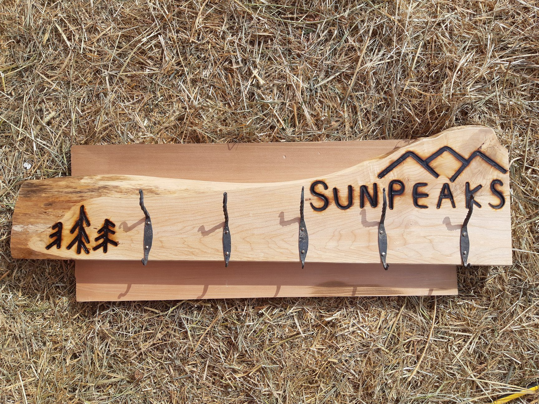 Custom wood coat racks and towel holders
