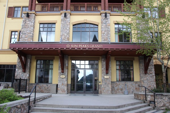Entrance to  Sun Peaks Grand Hotel and Conference Centre - formerly Delta Sun Peaks Hotel