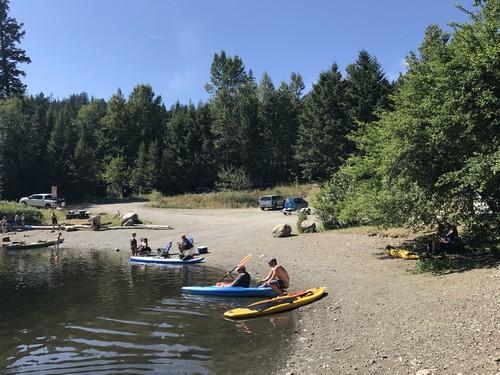 Heffley Lake beach area - best place to swim near Sun Peaks