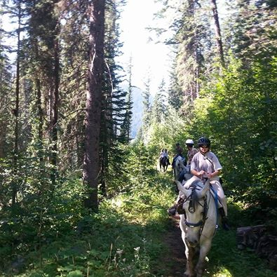 Fall horse trail rides at Sun Peaks Resort
