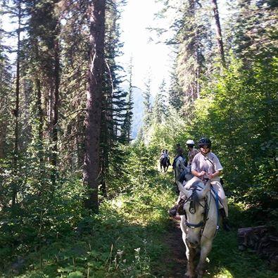 Fall horse trail rides at Sun Peaks Resort