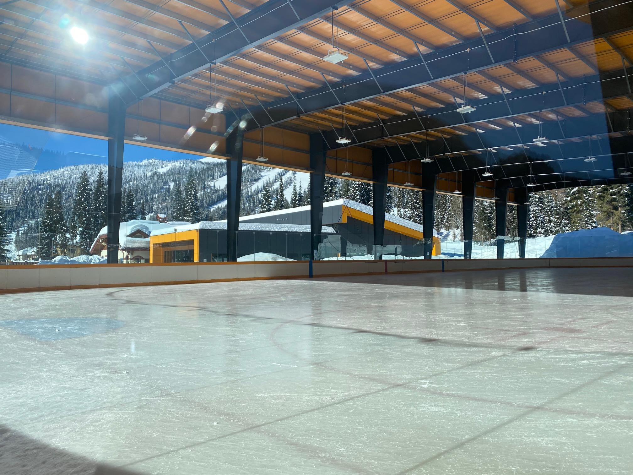 Sun Peaks ice rink & Apline Fitness