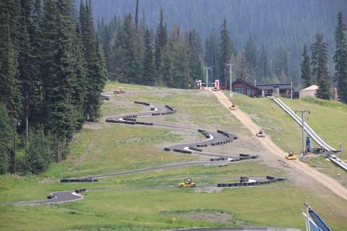 View of Sun Peaks Go Kart track