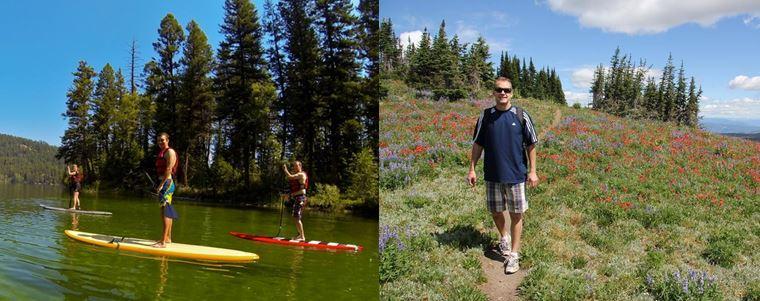Sun Peaks lake to Peak Adventure