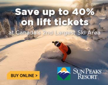 Best Sun Peaks Discounted Lift Passes