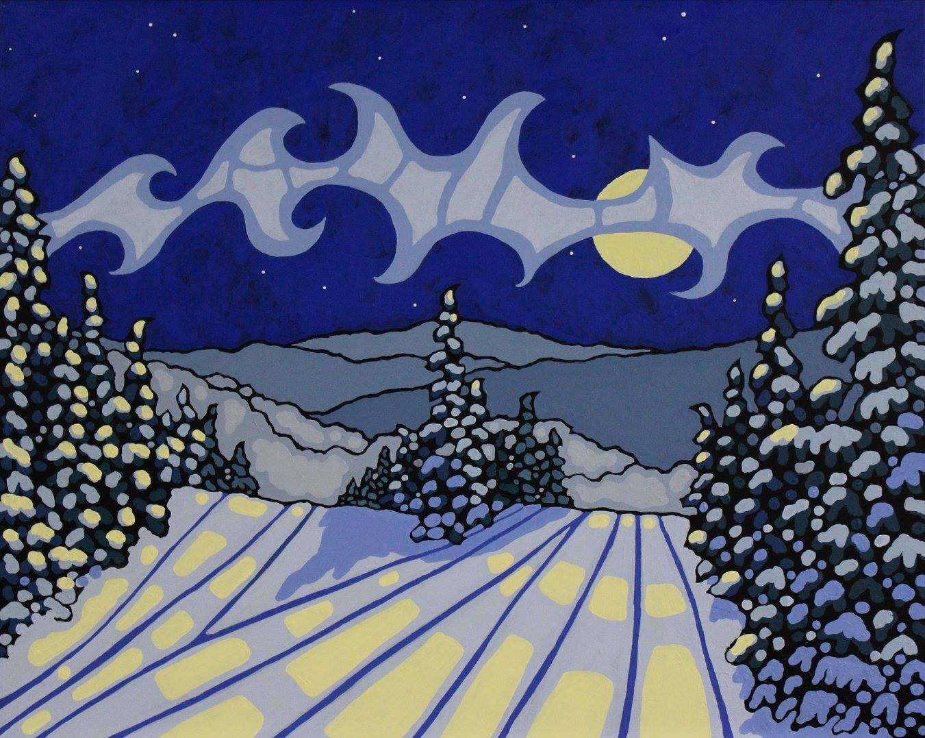 paint like a pro with Liz Derksen Sun Peaks Paint Nights
