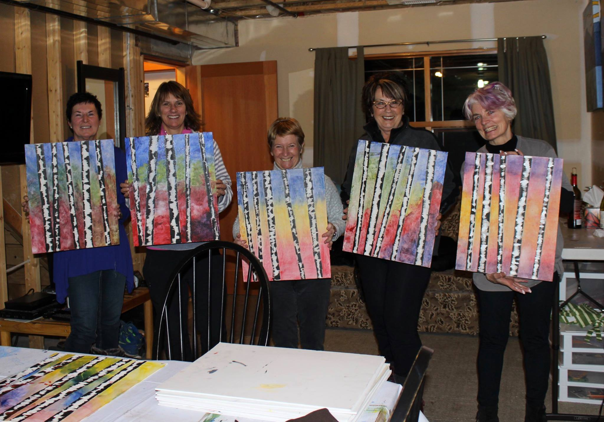 Sun Peaks Paint Nights with popular artist Liz Derksen