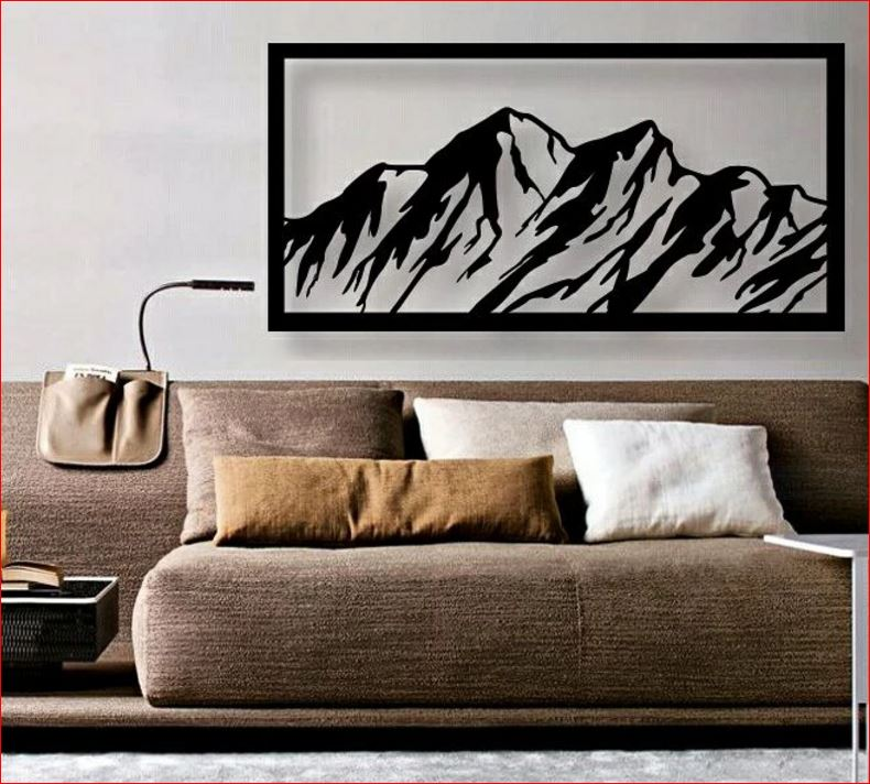 custom metal mountain wall art