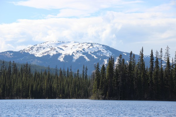 View of Mt. Tod at Sun Peaks from McGillivray lake from Sun Peaks Cnoe Tour