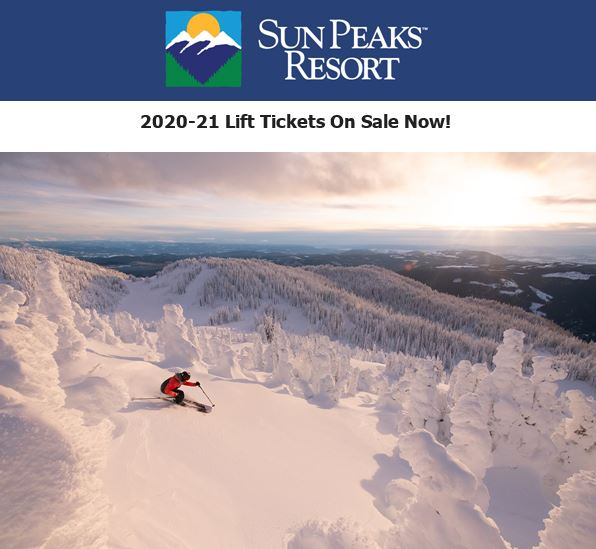 Sun Peaks Lift 2020/21 lift passes now available