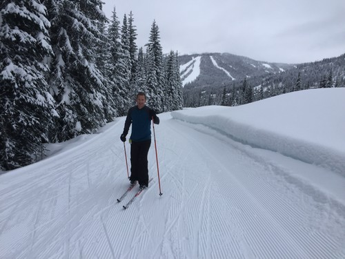 Sun Peaks Nordic skiing - Paul enjoying some lessons