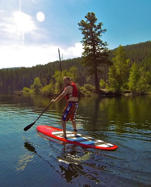 Stand Up Paddleboard Lessons on Heffley Lake near Best Sun Peaks Resort Vacations