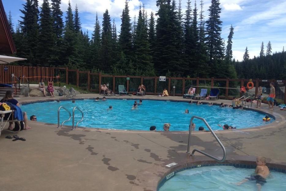 Sun Peaks Camping next to Sun Peaks Pool