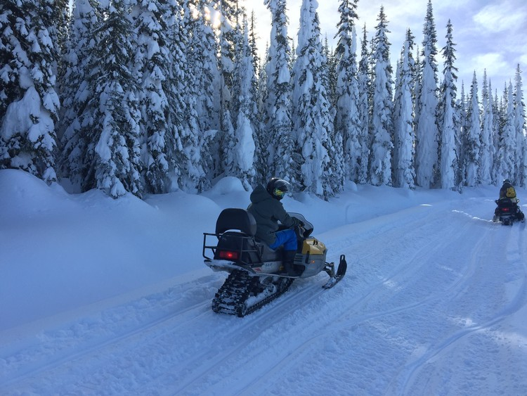 Sun Peaks Snowmobile tours - photo courtesy Sun Peaks Resort