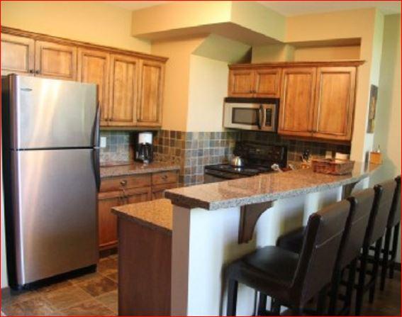 BestSunPeaks kitchen with many luxurious upgrades