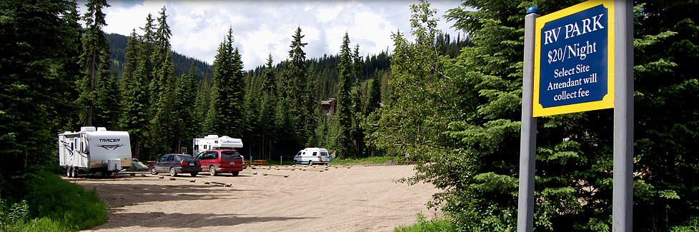 Sun Peaks Camping Site Locations