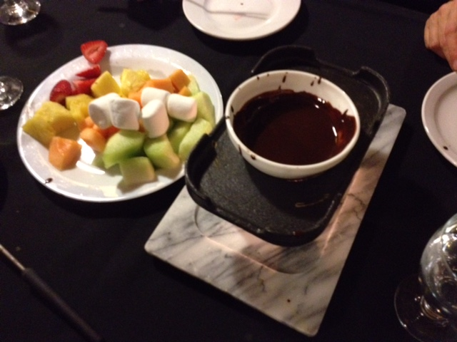 Chocolate fondue at Sun Peaks