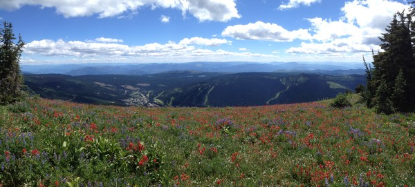 Spectacular 360 degree views during Sun Peaks Hiking trips