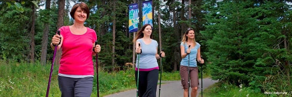 Sun Peaks Pole Walking