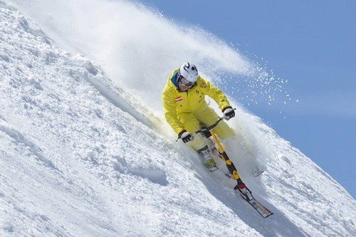 Warning - thrills from Sun Peaks snow bikes ahead
