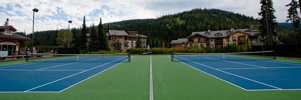 Sun Peaks newly resurfaced tennis court - photo courtesy Sun Peaks Resort