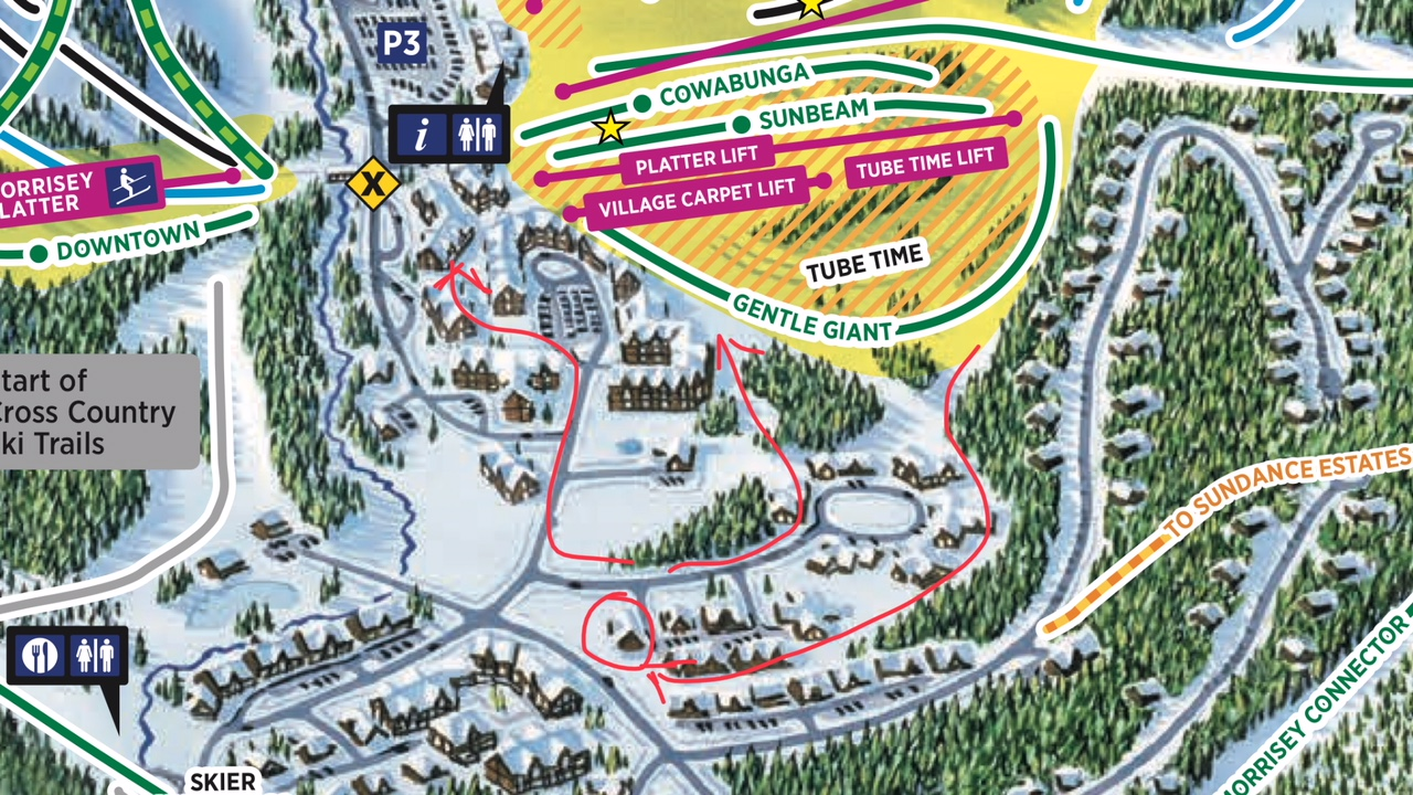 Timberline Village Townhouses - Sun Peaks all season ski resort, British Columbia