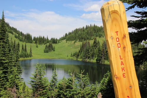 Tod Lake near the Mount Todd summit at Sun Peaks Resort - photo by bestsunpeaks